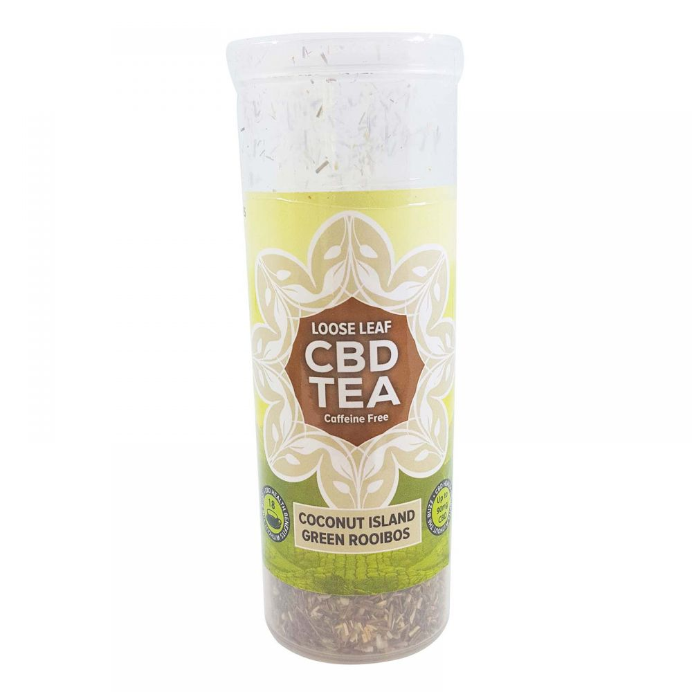Coconut Island Organic Green Organic Rooibos CBD Infused Tea Coconut 60 mg 1.5 oz. (42.5 g)