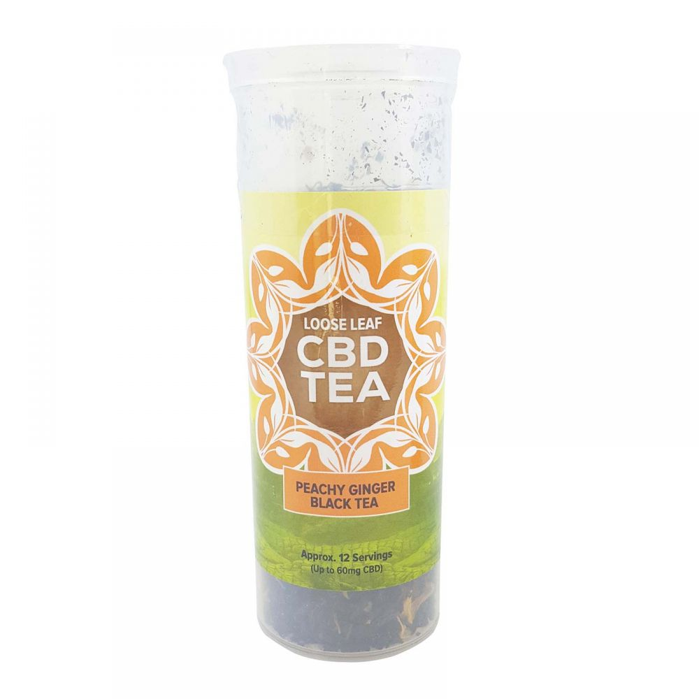 Peachy Ginger Organic Black CBD Infused Tea Peach Ginger 60 mg 1.5 oz. (42.5 g)
