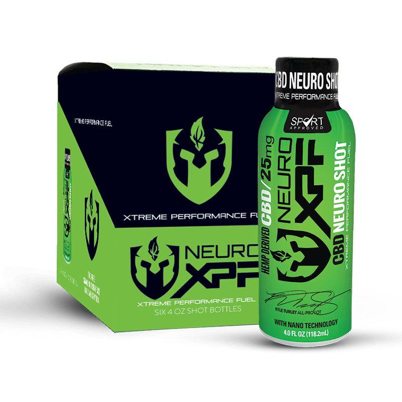 Neuro Shots CBD Hydration Blend 6-Pack Natural Flavor 150 mg 4 fl. oz. (118 mL)