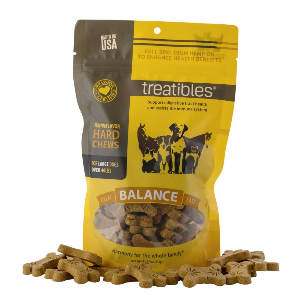Balance Large Canine Hard CBD Treats Pumpkin 180 mg 8.5 oz. (241 g) 45 Chews