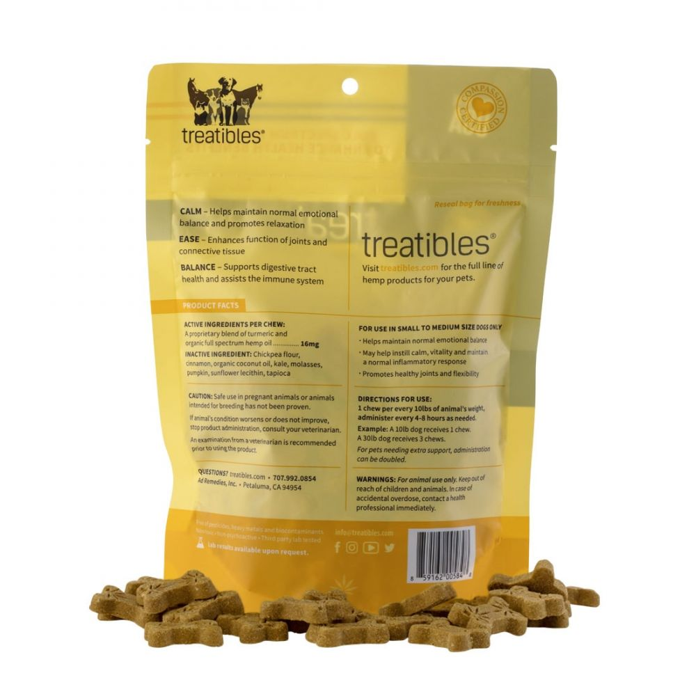 Balance Small Canine Hard CBD Treats Pumpkin 75 mg 5.9 oz. (168 g) 75 Chews