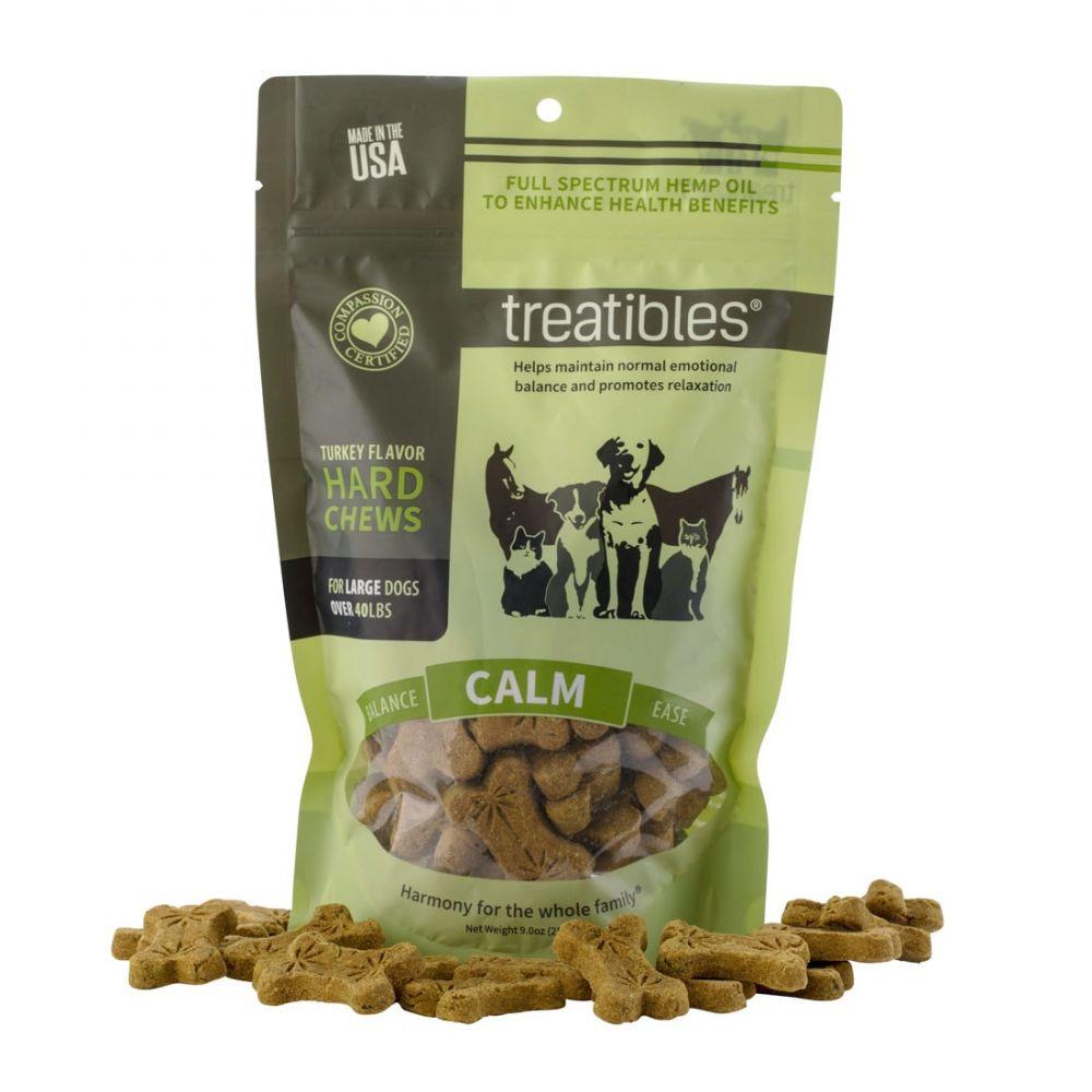 Calm Large Canine Hard CBD Treats Turkey 180 mg 9 oz. (255 g) 45 Chews