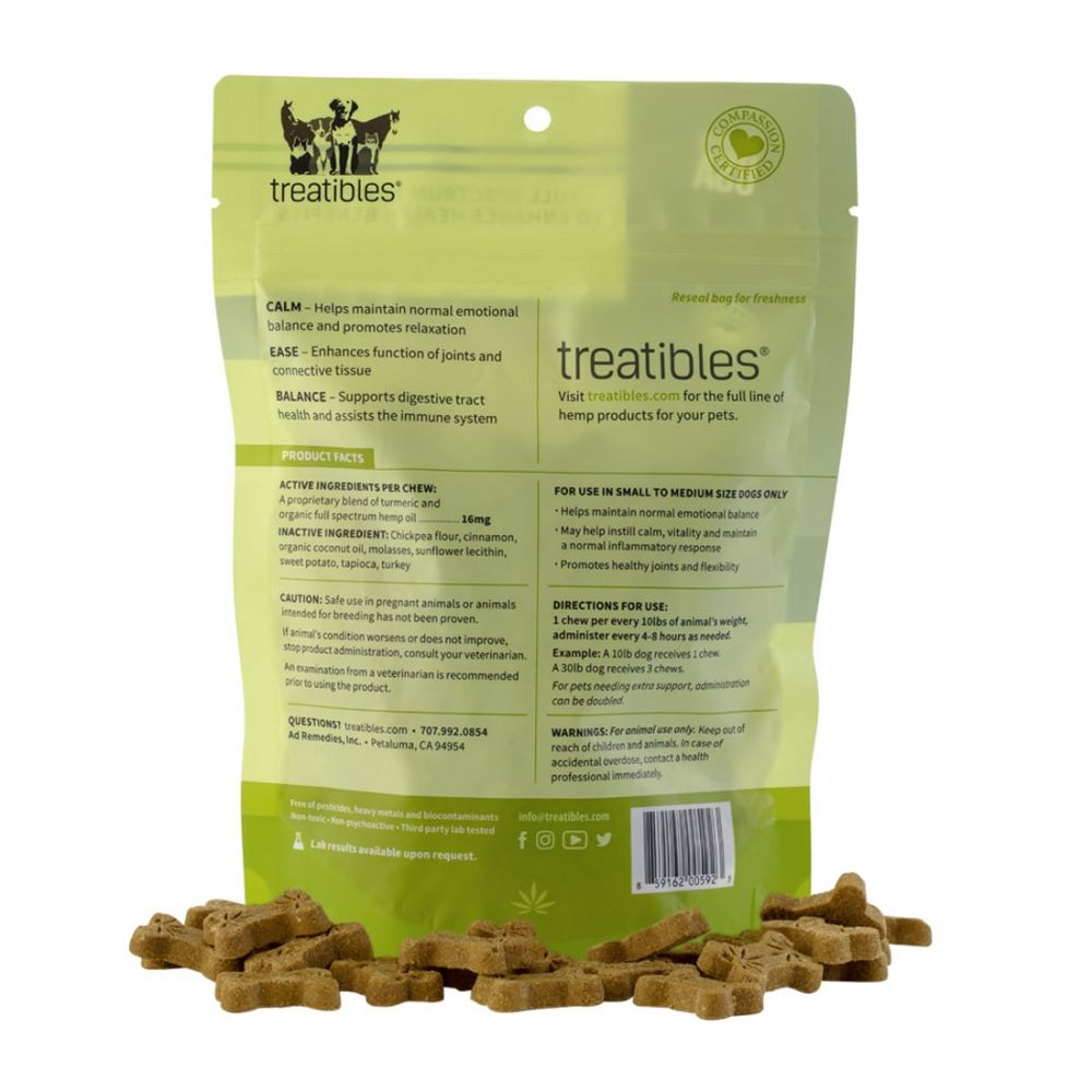 Calm Small Canine Hard CBD Treats Turkey 75 mg 6.3 oz. (179 g) 75 Chews