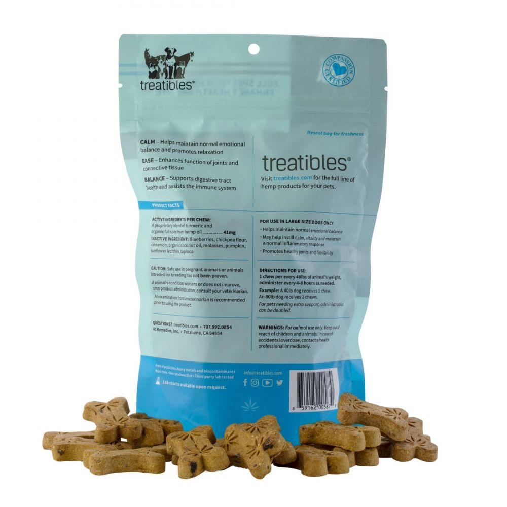 Ease Large Canine Hard CBD Treats Blueberry 180 mg 8.5 oz. (241 g) 45 Chews