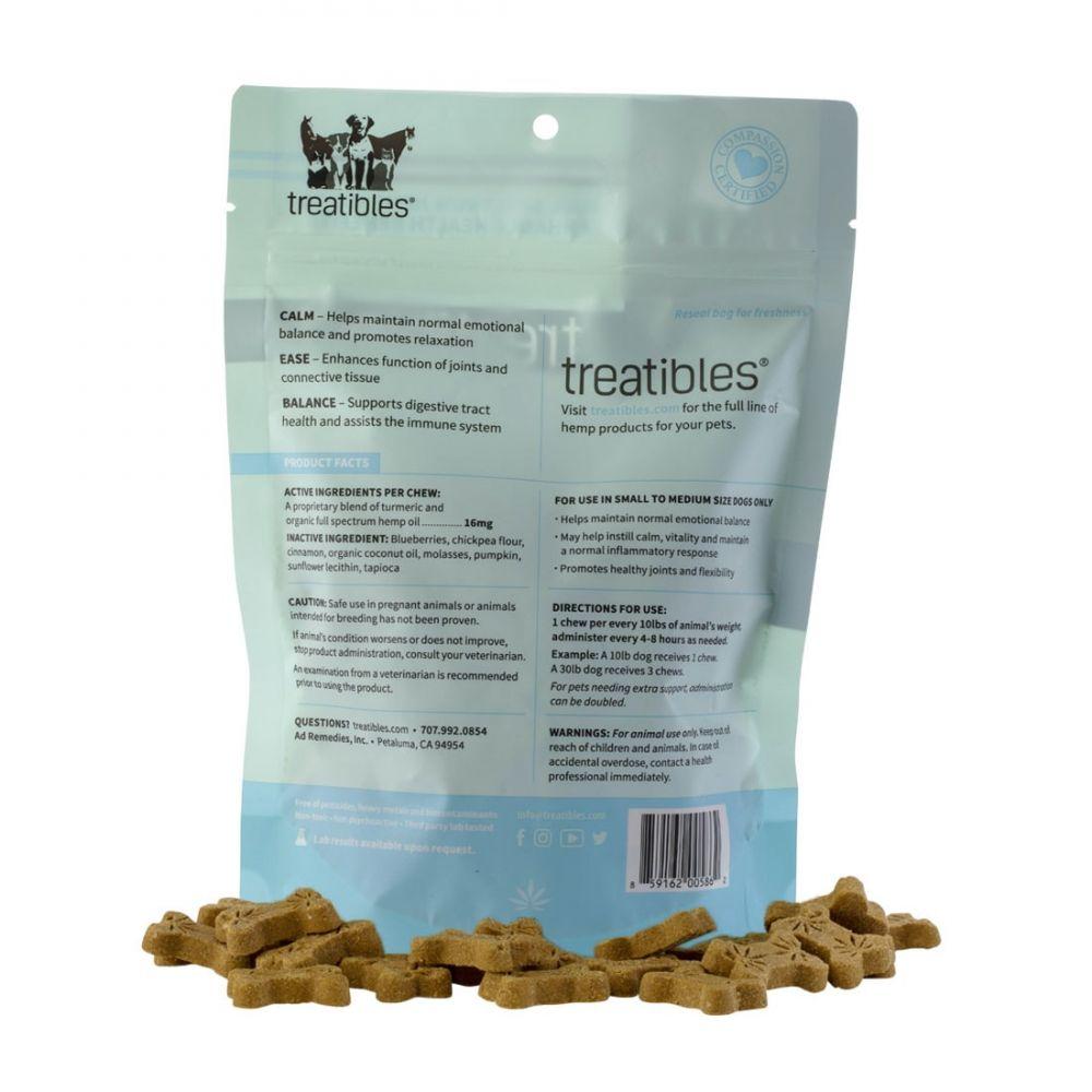 Ease Small Canine Hard CBD Treats Blueberry 75 mg 6 oz. (170 g) 75 Chews