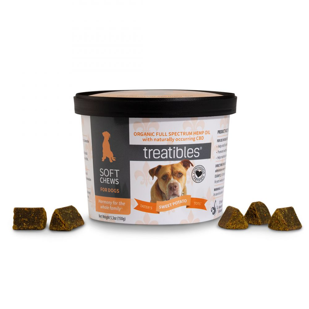 Tater's Sweet Potato Tots CBD Soft Chews for Dogs 180 mg 5.3 oz. (150 g) 60 Chews