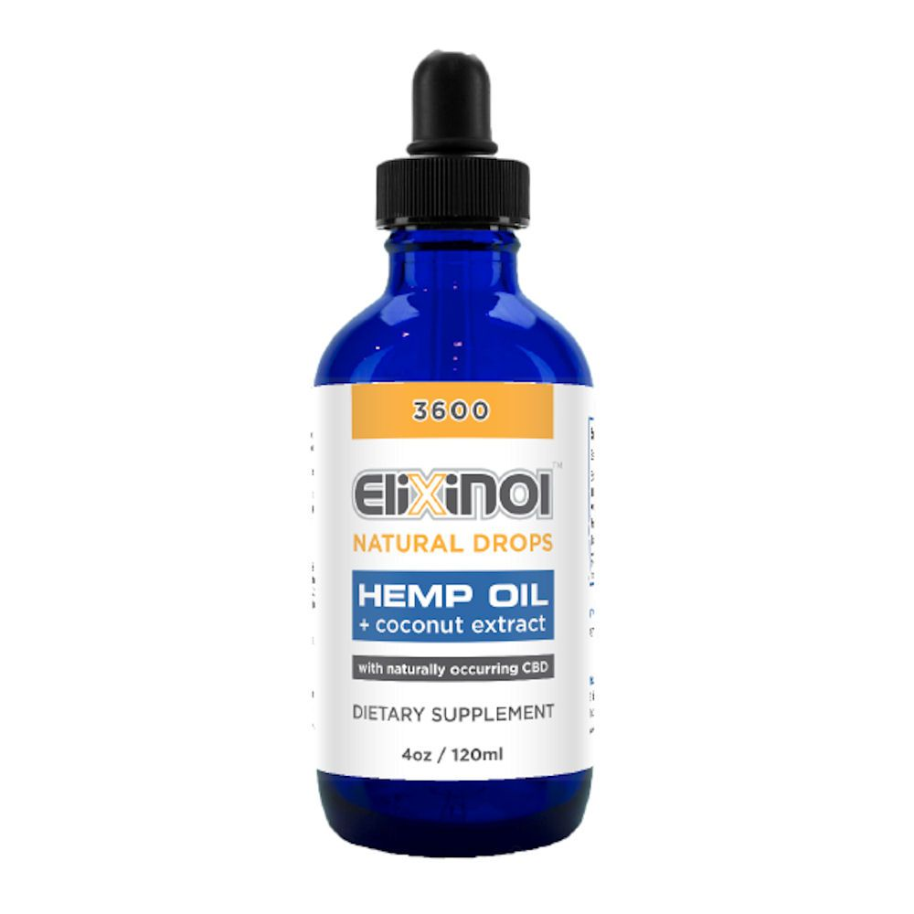CBD Oil Hemp Extract Drops Natural Flavor 3,600 mg 4 fl. oz. (118 mL)