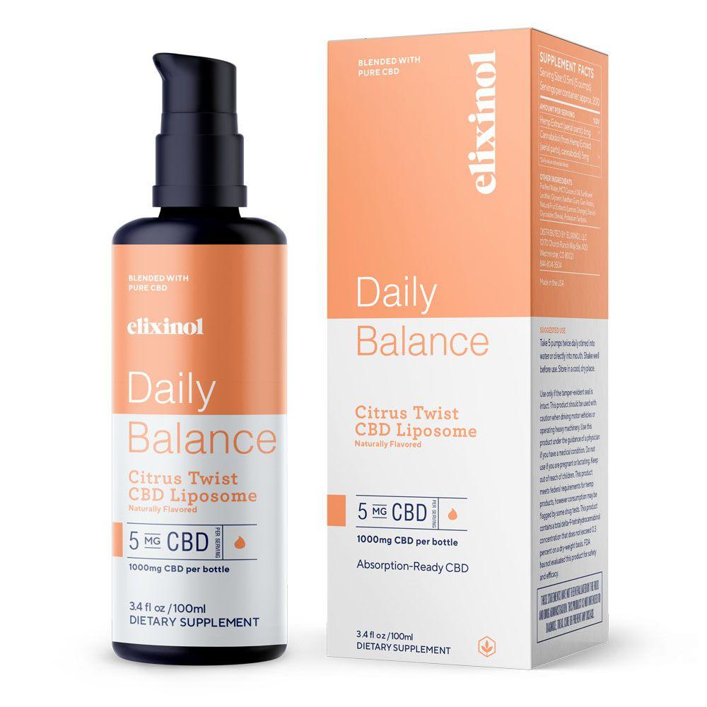 CBD Oil Liposomes Citrus Twist 1,000 mg 3.4 fl. oz. (100 mL)