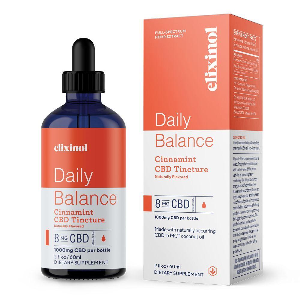 Daily Balance CBD Tincture Cinnamint 1,000 mg 2 fl. oz. (59 mL)