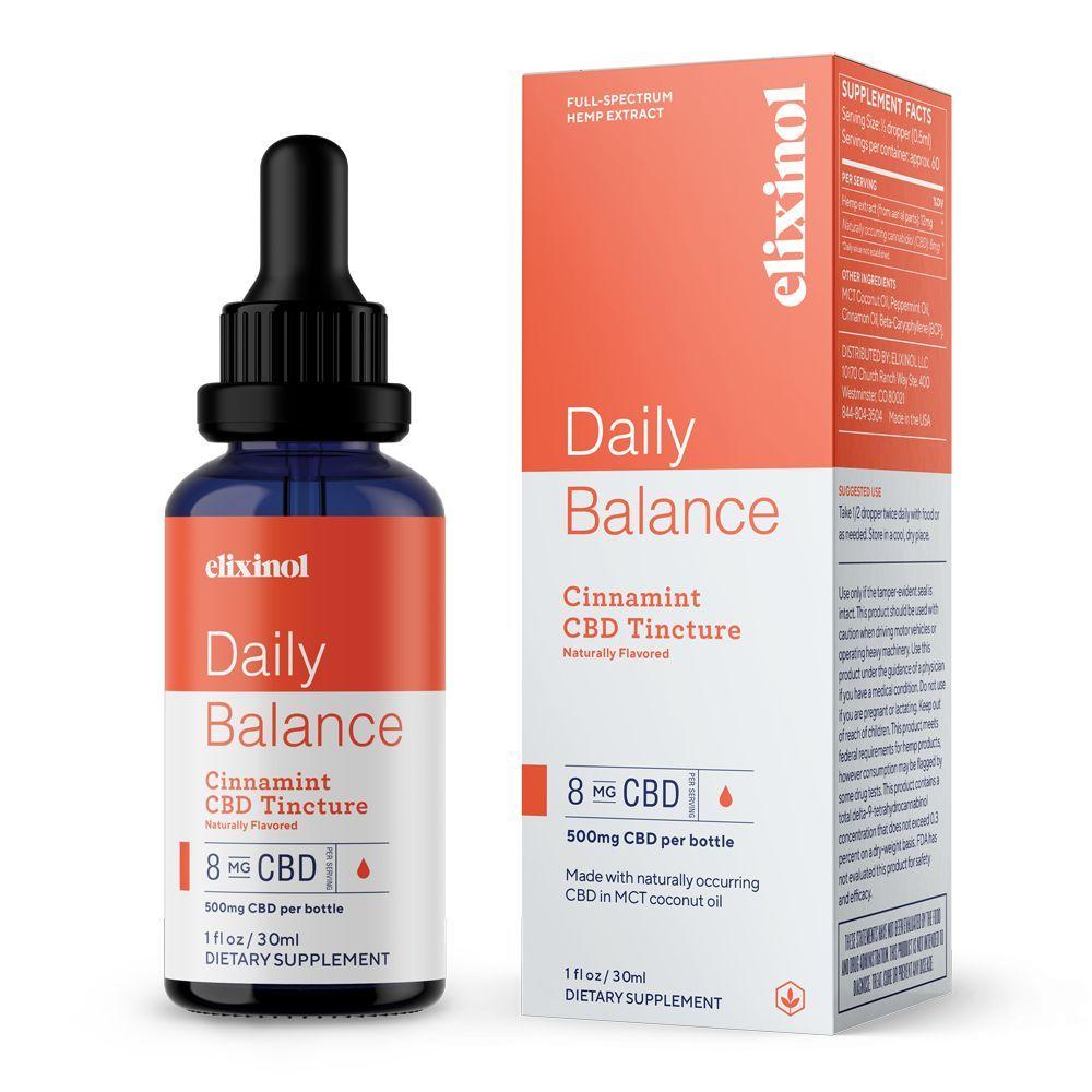 Daily Balance CBD Tincture Cinnamint 500 mg 1 fl. oz. (30 mL)