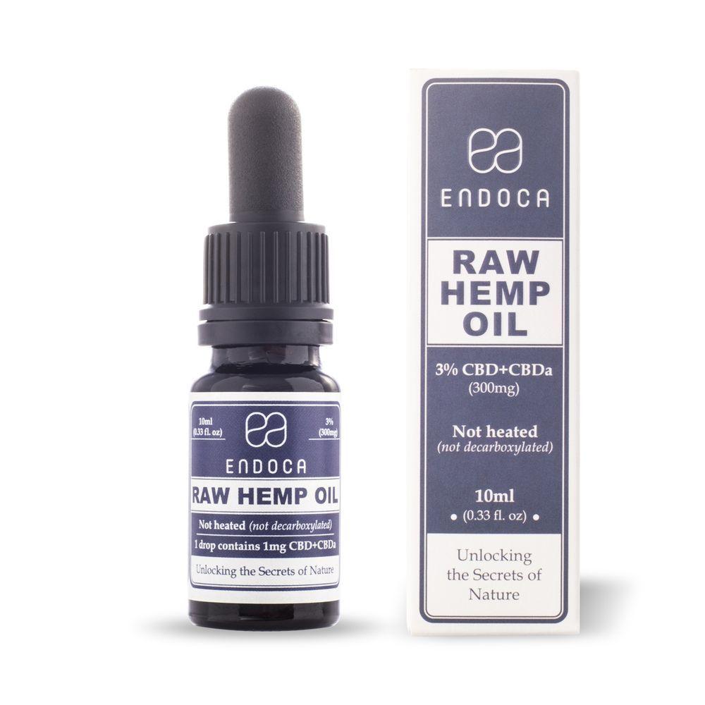 CBD Oil Raw CBD+CBDa Natural Flavor 300 mg 0.33 fl. oz. (10 mL)