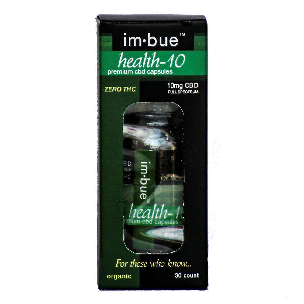im·bue™ Health-10 Organic CBD Hemp Oil 300 mg 30 Capsules