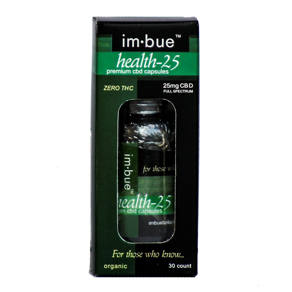 im·bue™ Health-25 Organic CBD Hemp Oil 750 mg 30 Capsules