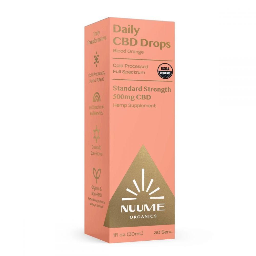 Daily CBD Drops Blood Orange 500 mg 1 fl. oz. (30 mL)