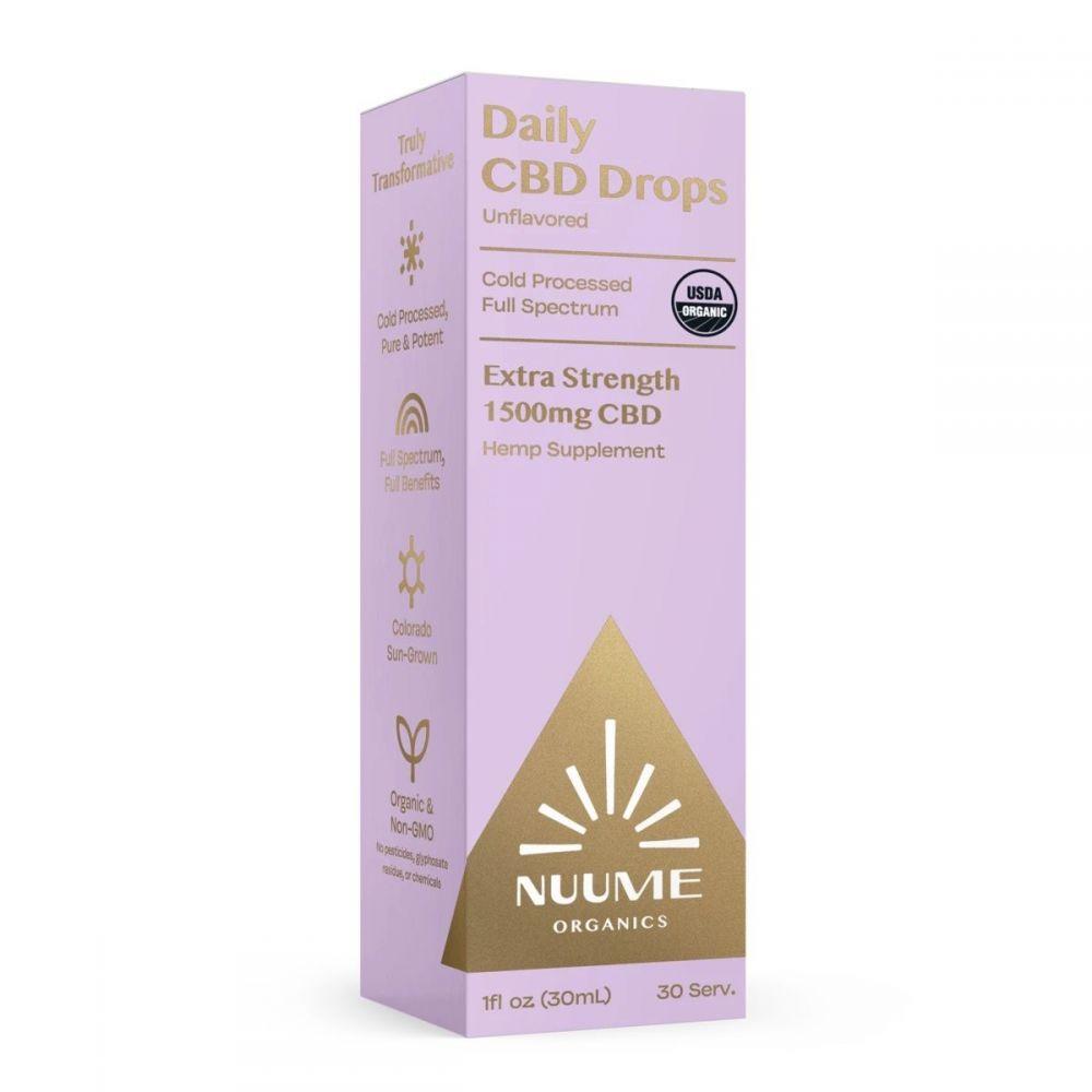 Daily CBD Drops Unflavored 1,500 mg 1 fl. oz. (30 mL)