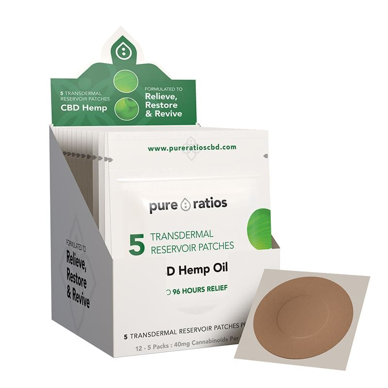CBD Transdermal Patch 40 mg Patch 5-Pack