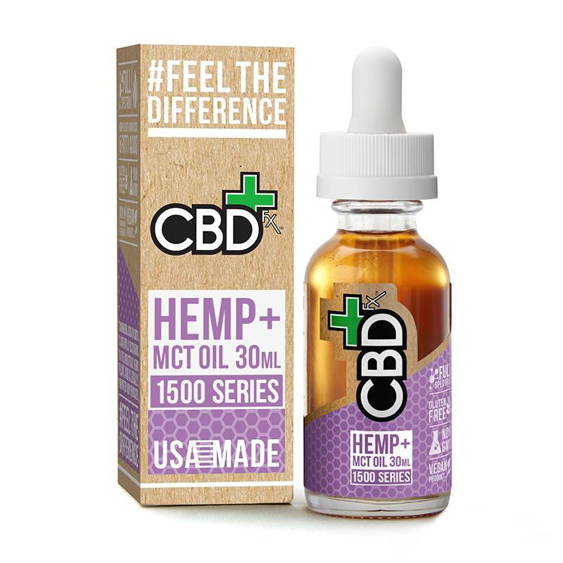 CBD Oil Tincture Natural Flavor 1,500 mg 1 fl. oz. (30 mL)