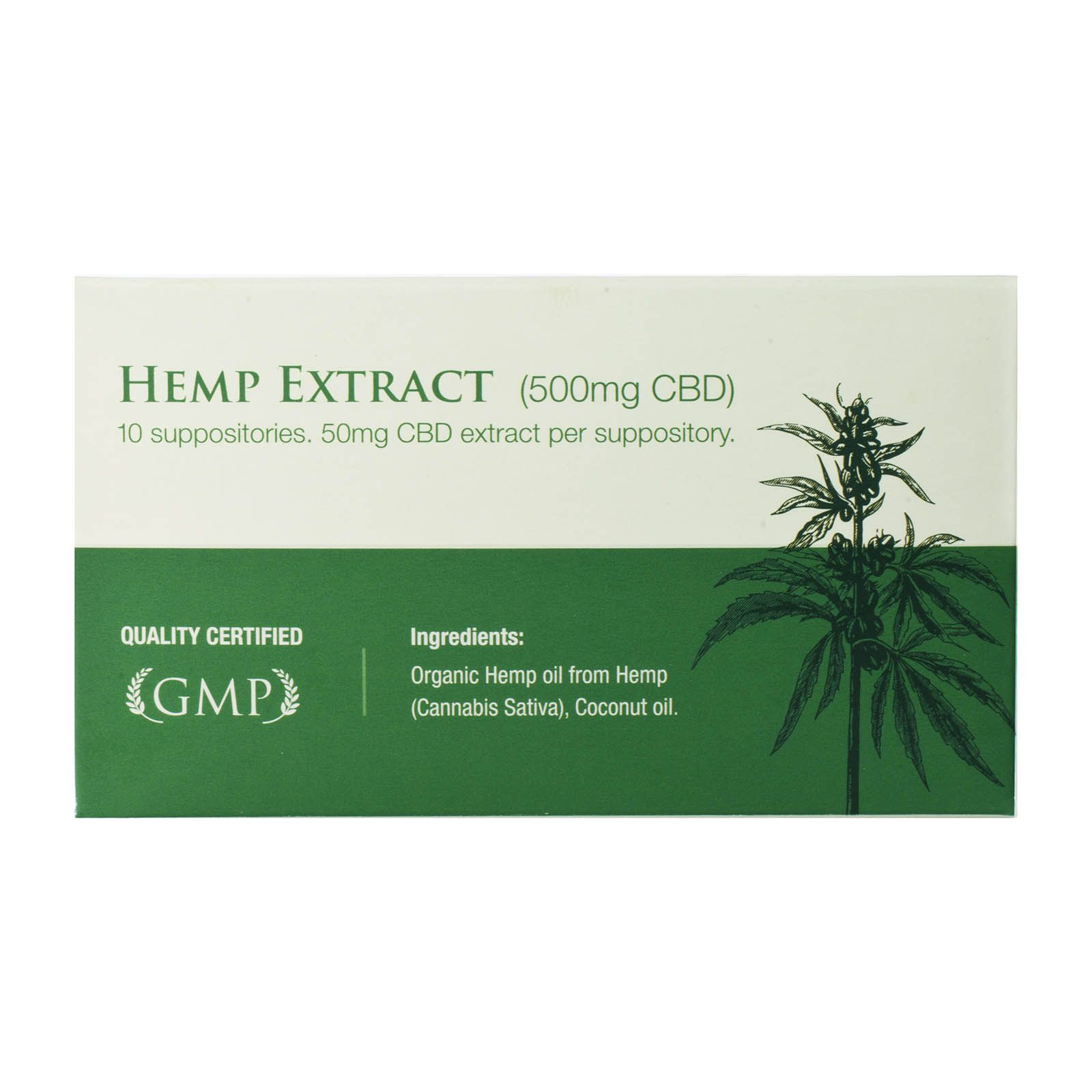 CBD Oil 500 mg 10 Suppositories