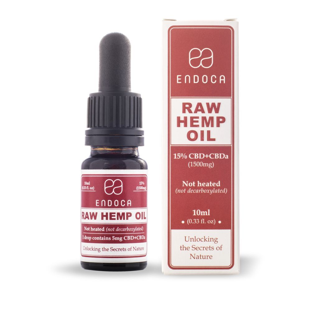 CBD Oil Raw CBD+CBDa Natural Flavor 1,500 mg 0.33 fl. oz. (10 mL)