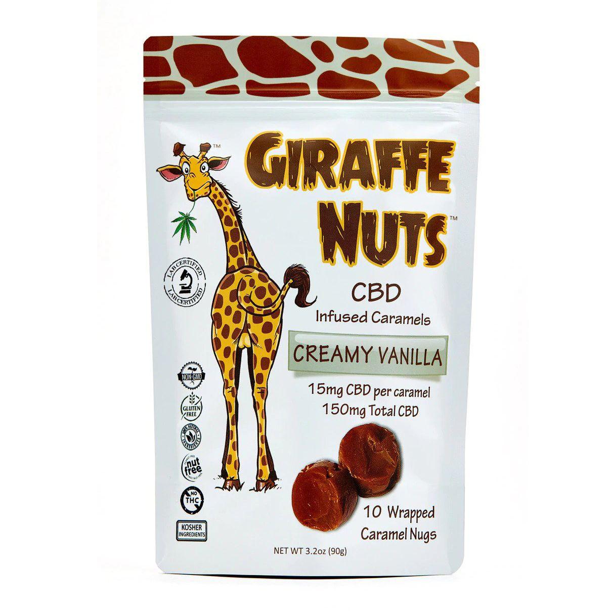 CBD Caramels Creamy Vanilla 150 mg 3.2 oz. (90 g) 10 Caramels