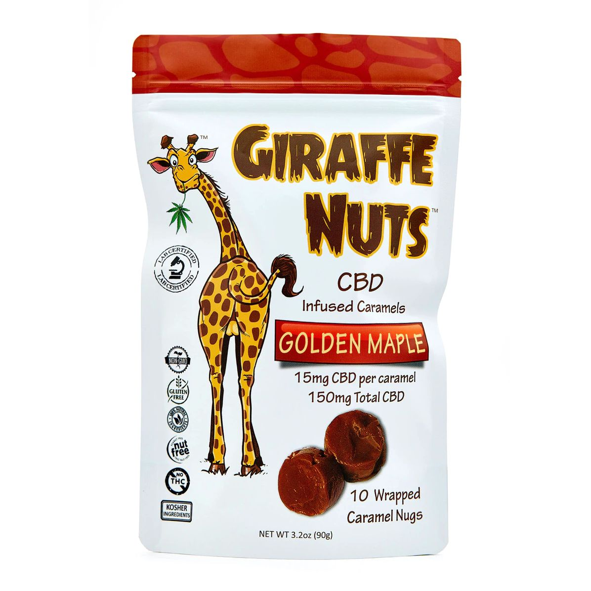 CBD Caramels Golden Maple 150 mg 3.2 oz. (90 g) 10 Caramels