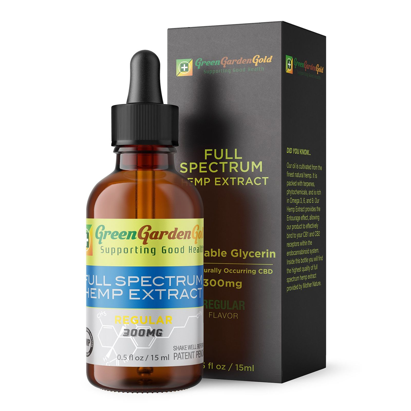 CBD Oil Full-Spectrum Natural Flavor 300 mg 0.5 fl. oz. (15 mL)