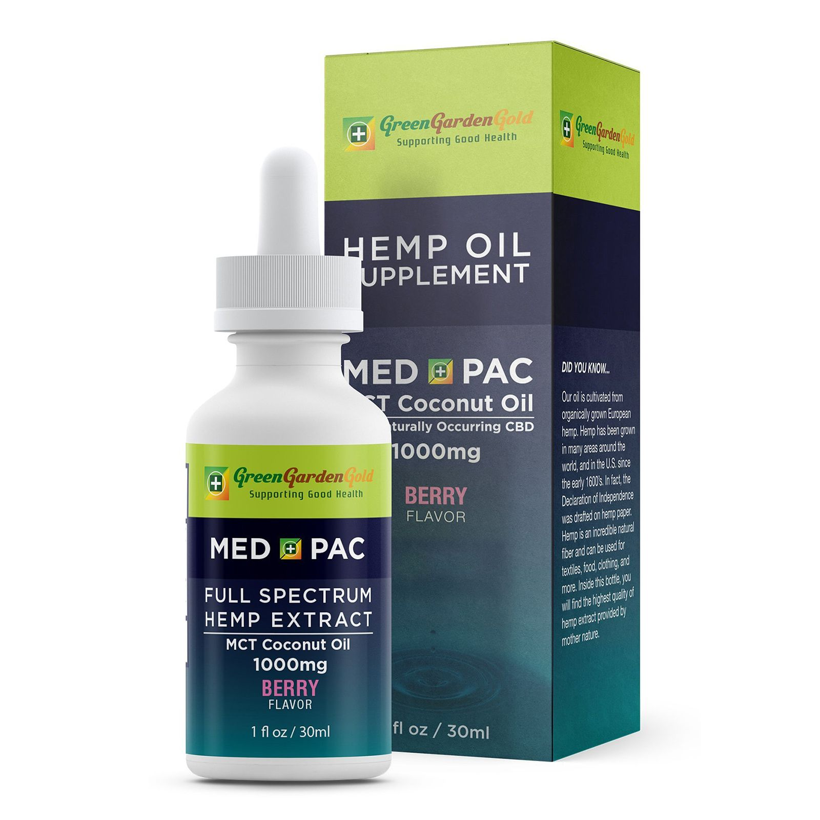 Med Pac CBD Oil Berry 2,000 mg 4 fl. oz. (118 mL)