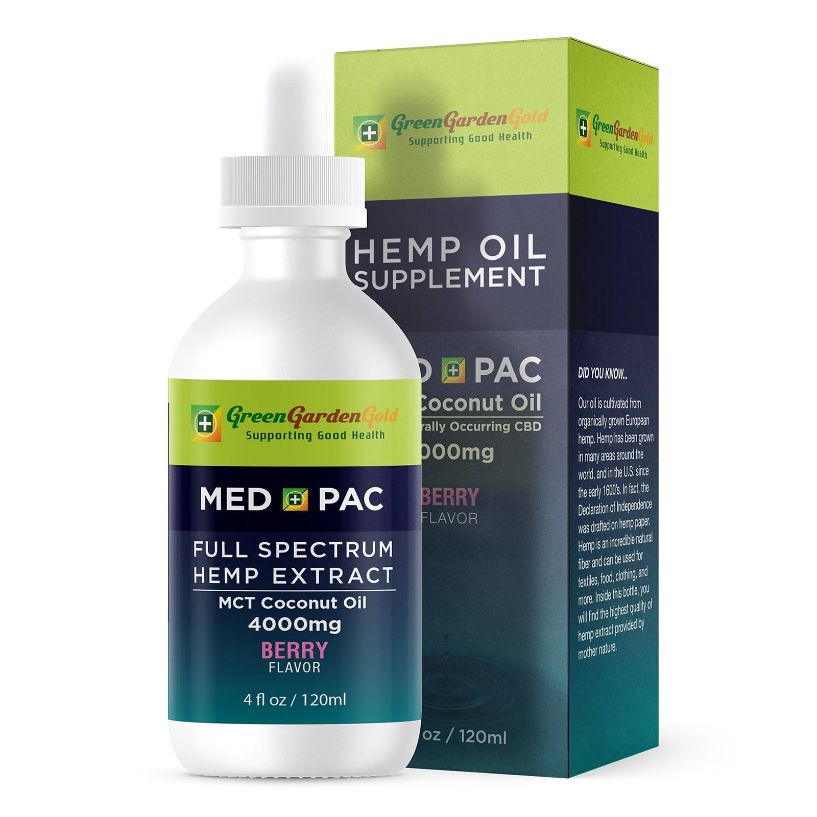 Med Pac CBD Oil Berry 4,000 mg 4 fl. oz. (118 mL)
