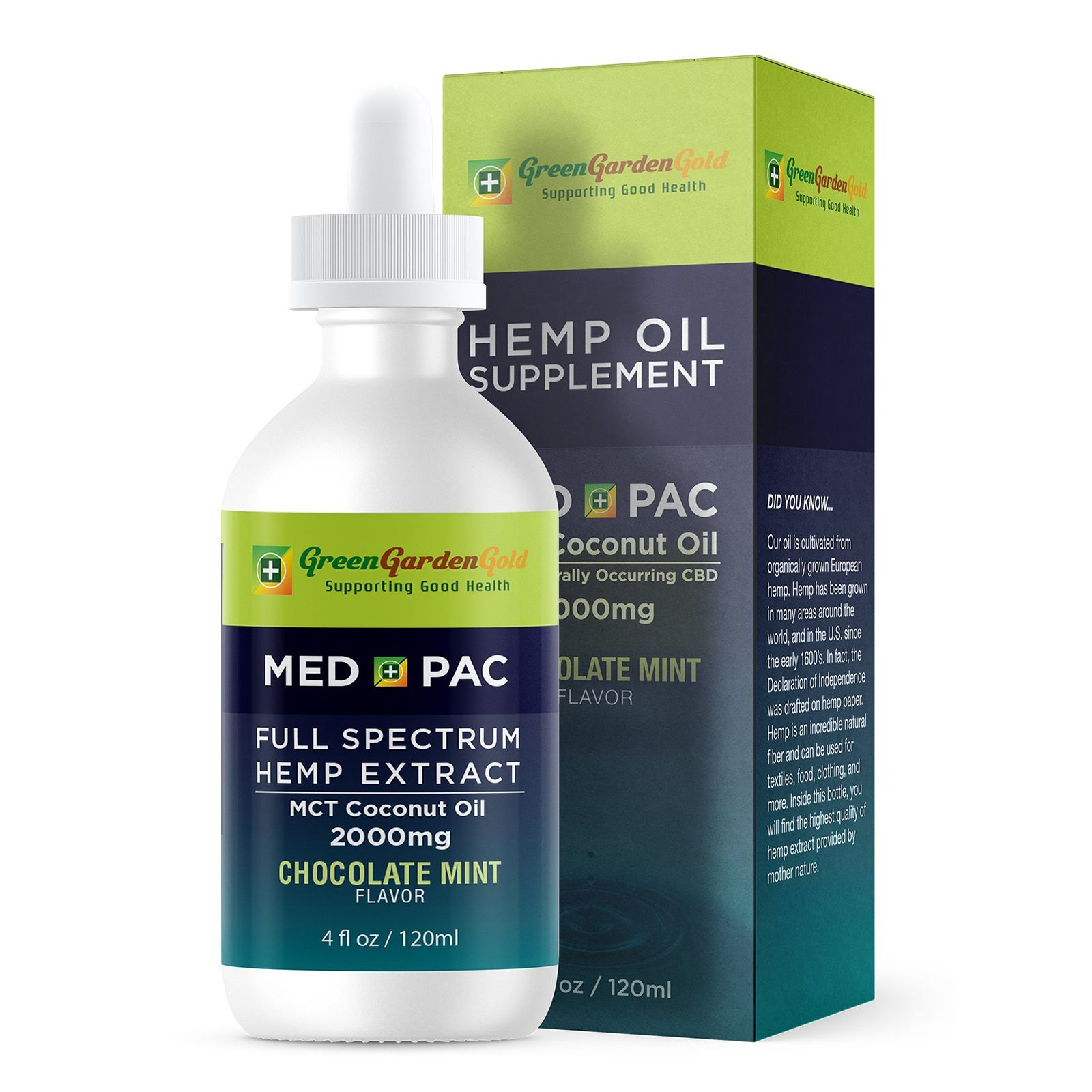 Med Pac CBD Oil Chocolate Mint 2,000 mg 4 fl. oz. (118 mL)