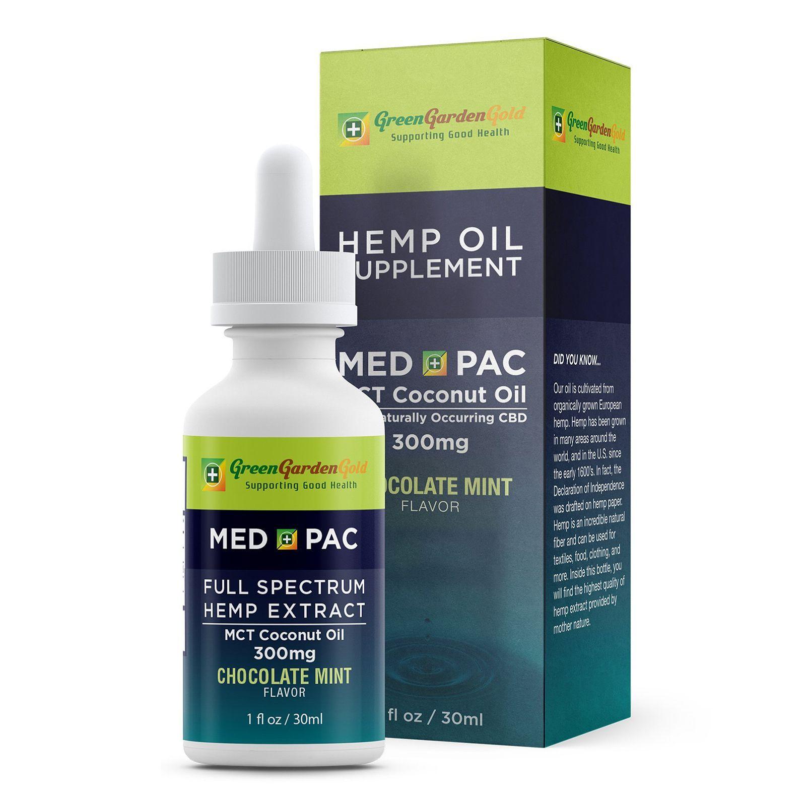 Med Pac CBD Oil Chocolate Mint 300 mg 1 fl. oz. (30 mL)
