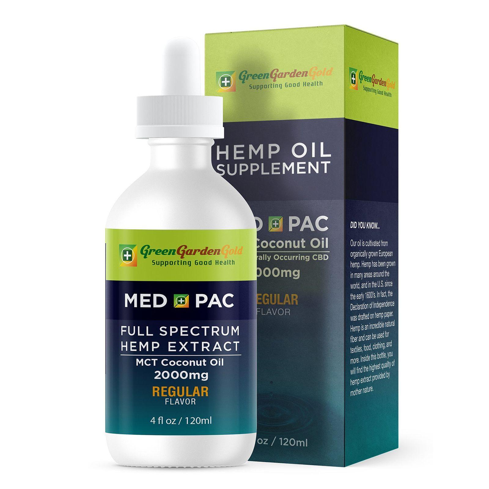 Med Pac CBD Oil Natural Flavor 2,000 mg 4 fl. oz. (118 mL)