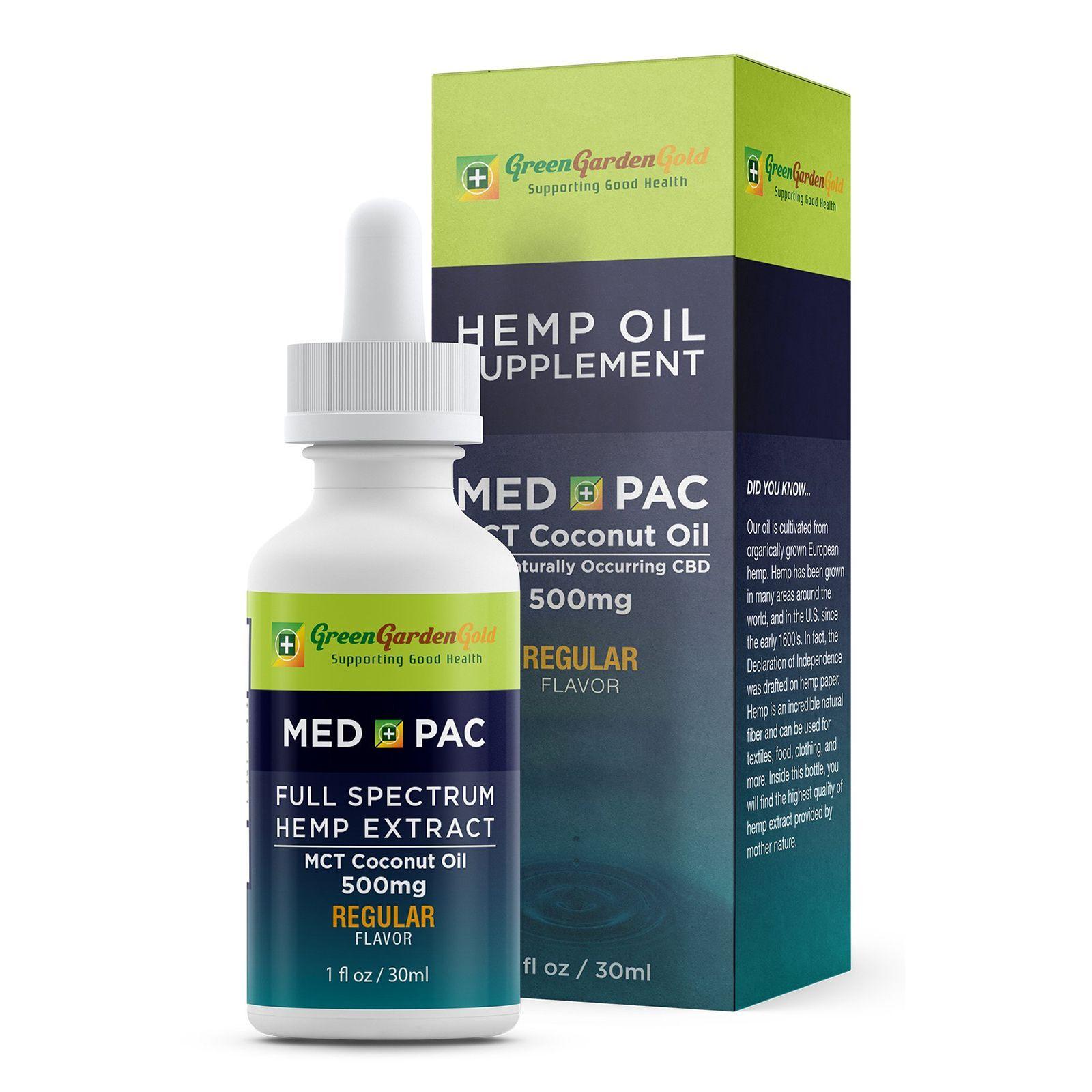 Med Pac CBD Oil Natural Flavor 500 mg 1 fl. oz. (30 mL)