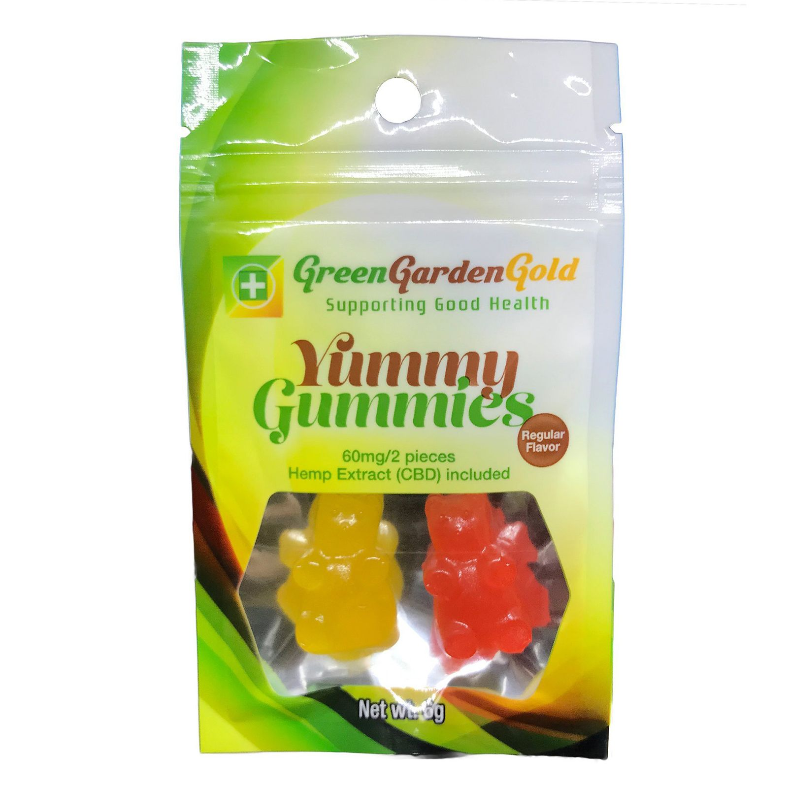 Yummie Gummies CBD Gummy Bears Assorted Flavors 60 mg 2 Gummies