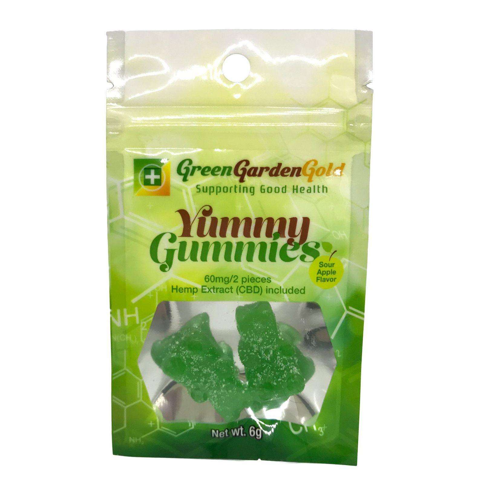 Yummie Gummies CBD Gummy Bears Sour Apple 60 mg 2 Gummies
