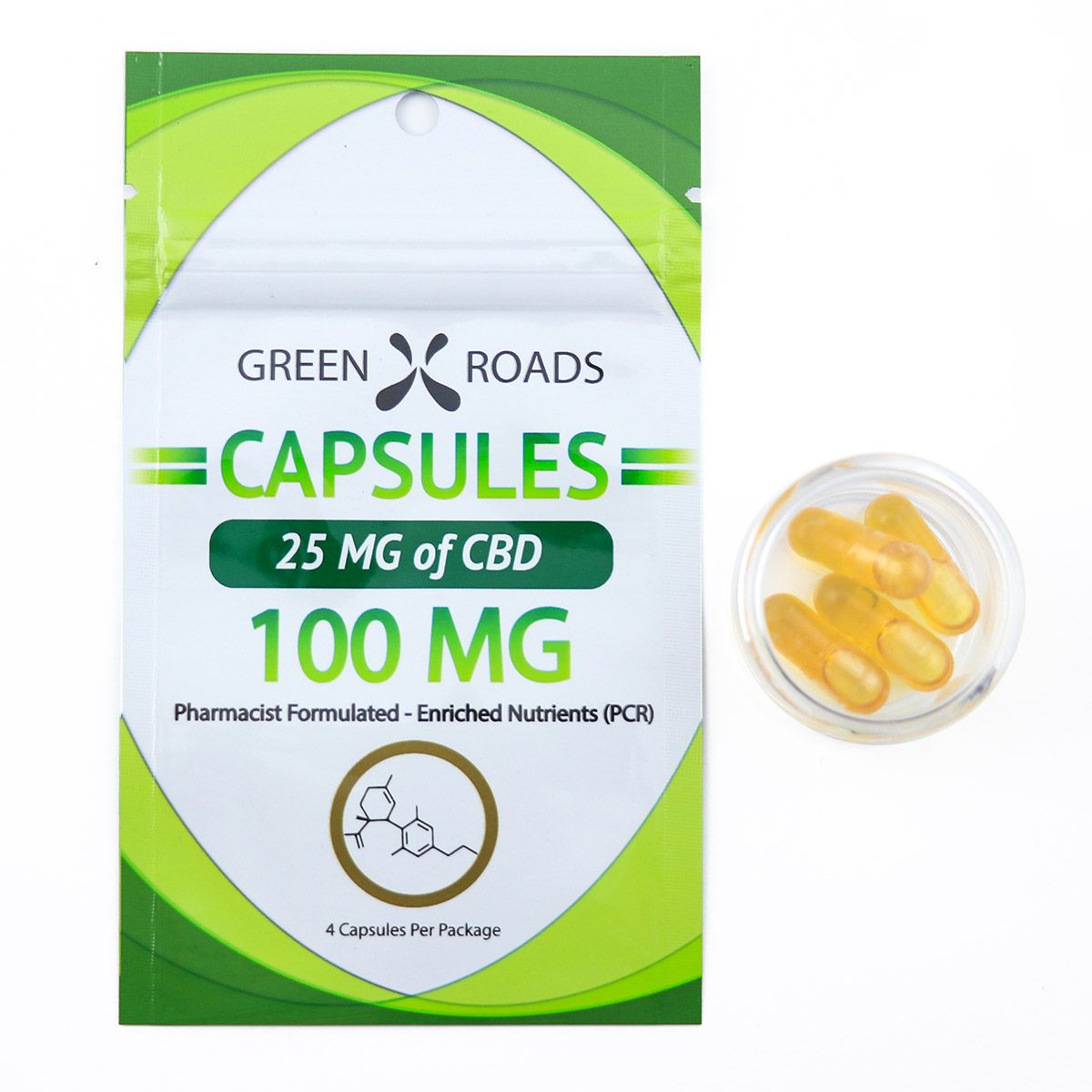 CBD Capsules 100 mg 4 Capsules