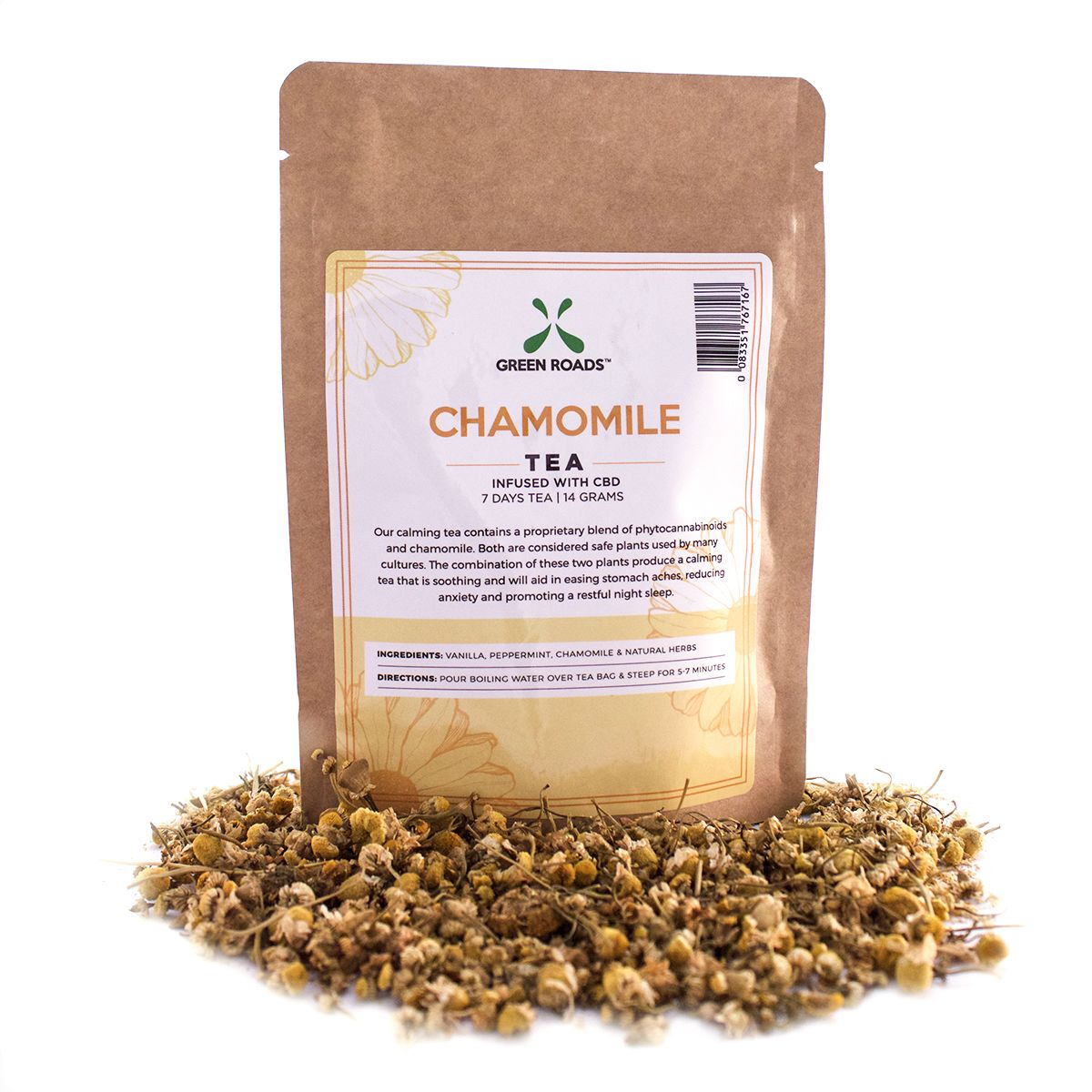 CBD Chamomile Loose Tea 55 mg 0.5 oz. (14 g)