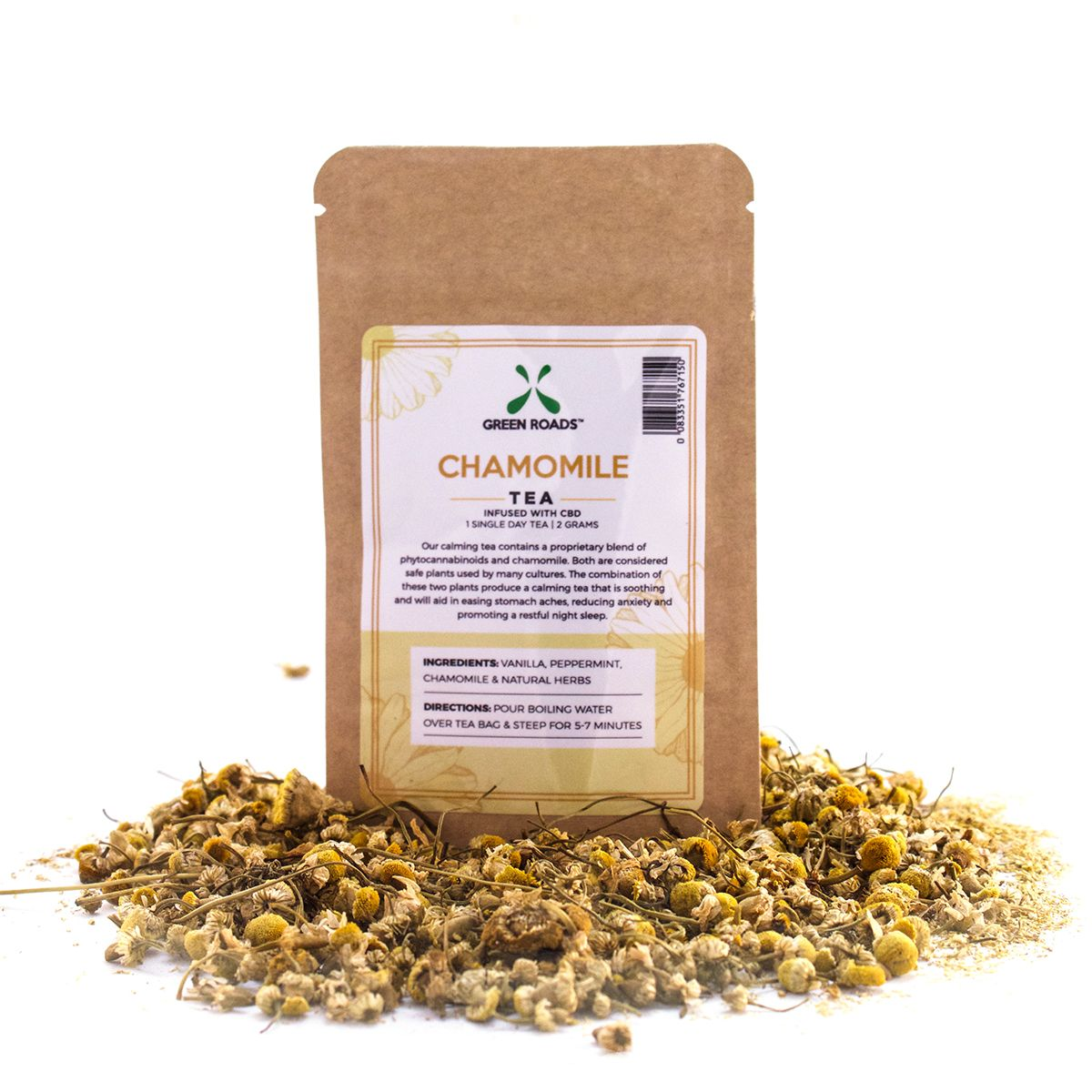 CBD Chamomile Loose Tea 7 mg 0.07 oz. (2 g)