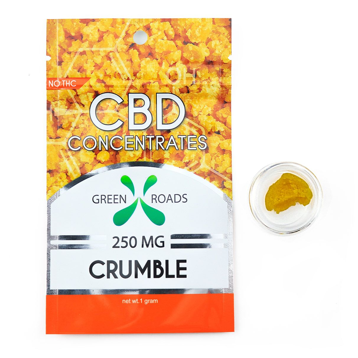 CBD Concentrates Crumble Natural Flavor 250 mg 1 g