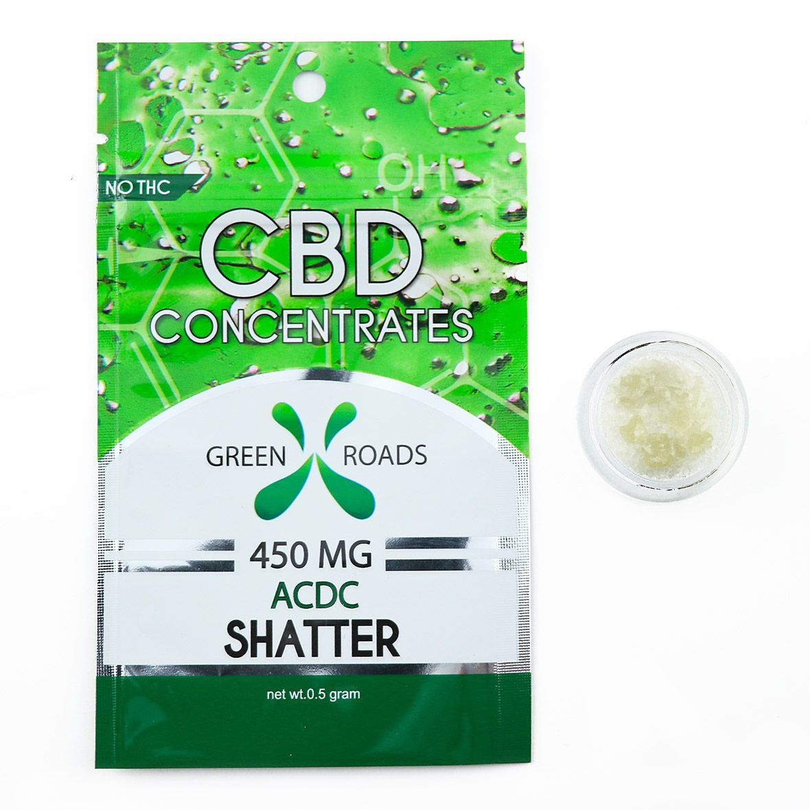 CBD Concentrates Shatter AC/DC 450 mg 0.5 g