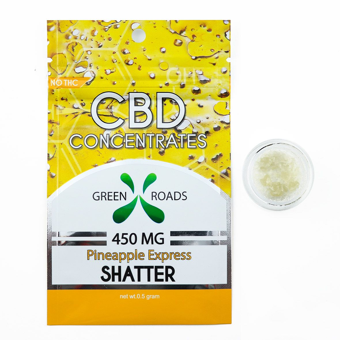 CBD Concentrates Shatter Pineapple Express 450 mg 0.5 g