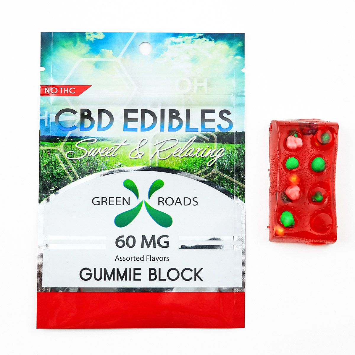 CBD Gummy Block Assorted Flavors 60 mg 1 Gummy