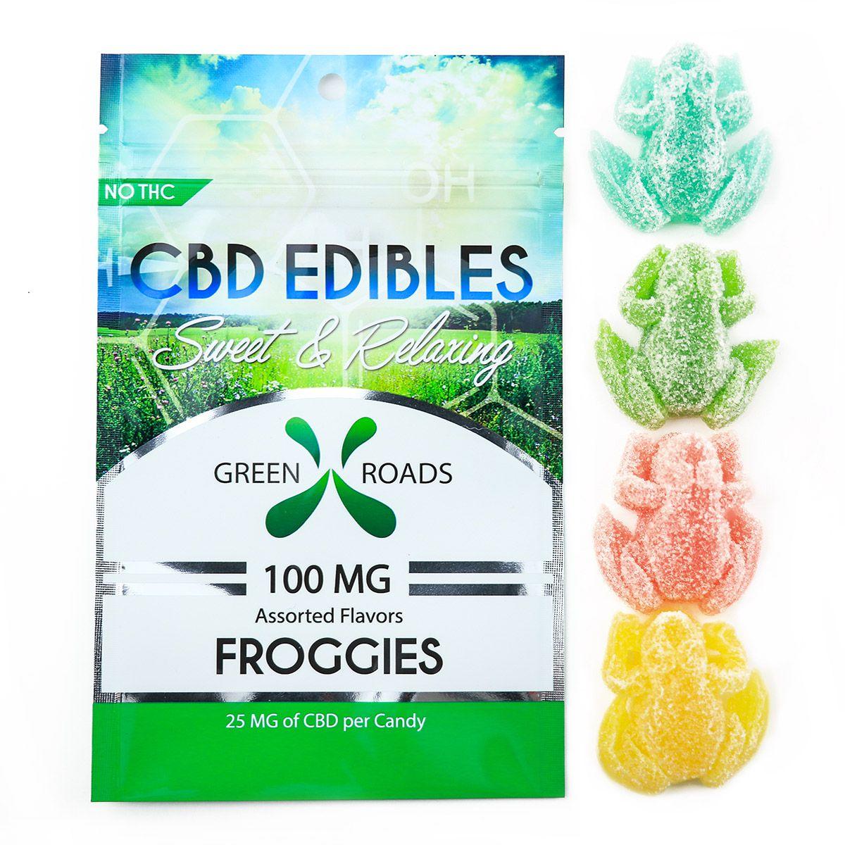 CBD Gummy Froggies Assorted Flavors 100 mg 4 Gummies