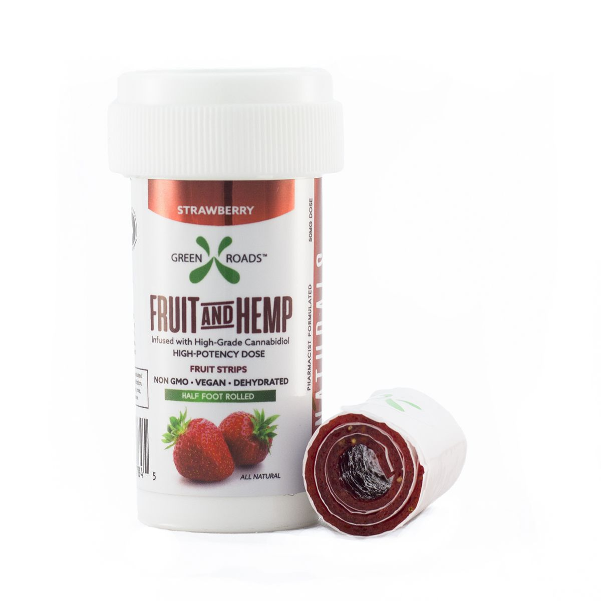 CBD Hemp & Fruit Vegan Fruit Strip Strawberry 50 mg 6 inches