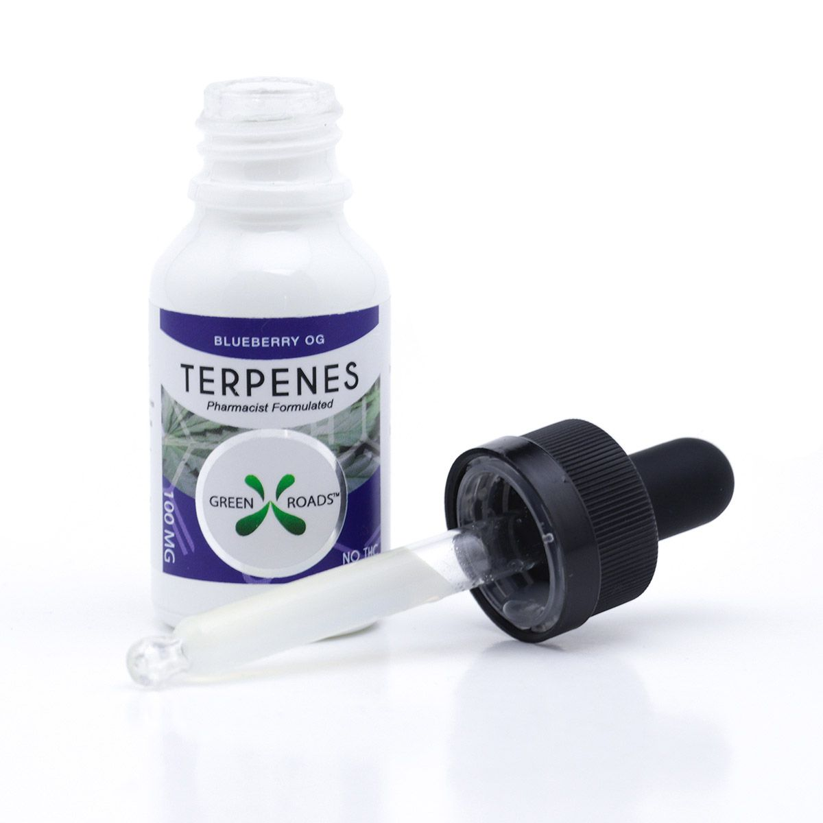 CBD Oil with Infused Terpenes (Sublingual + Vapeable) Blueberry OG 100 mg 0.5 fl. oz. (15 mL)