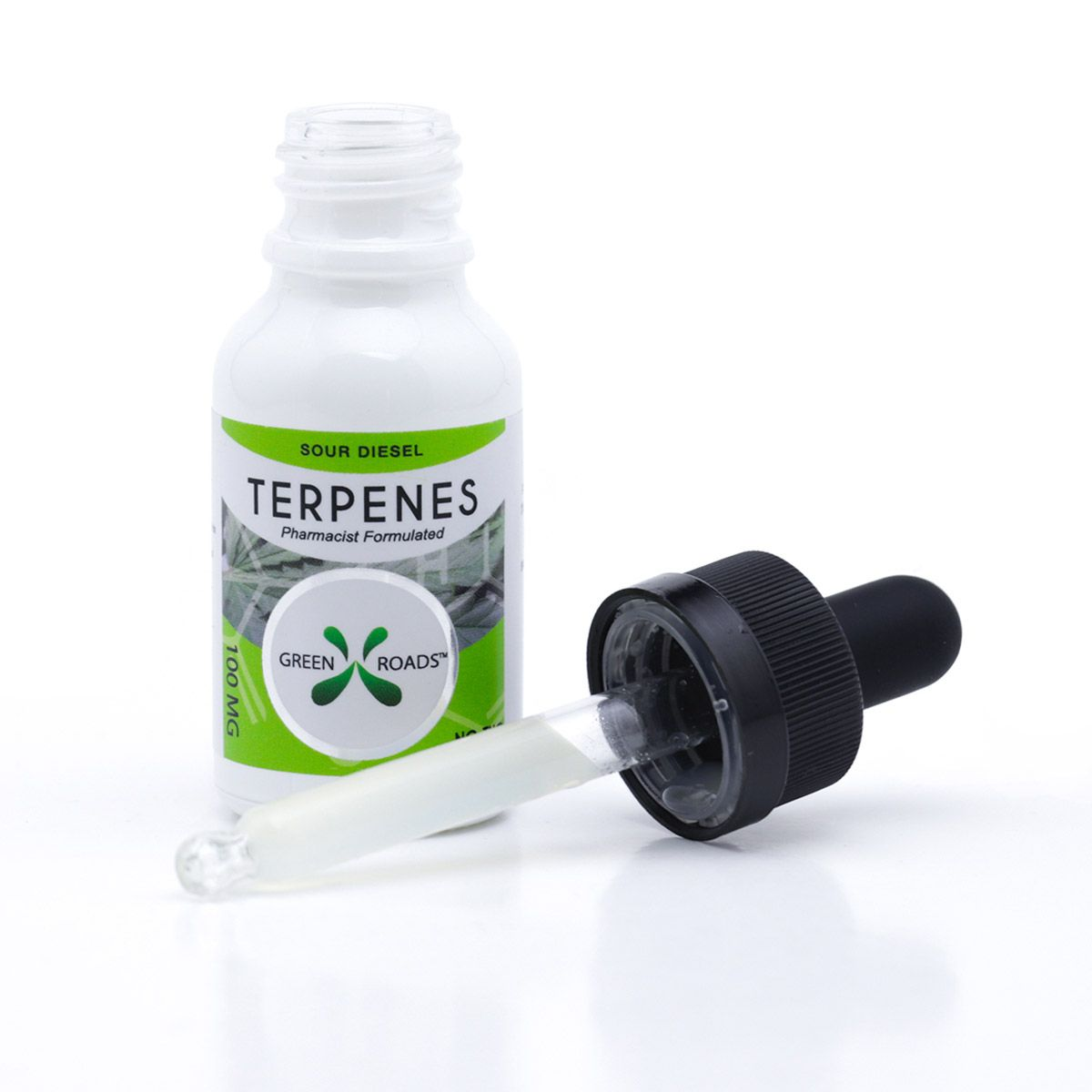 CBD Oil with Infused Terpenes (Sublingual + Vapeable) Sour Diesel 100 mg 0.5 fl. oz. (15 mL)