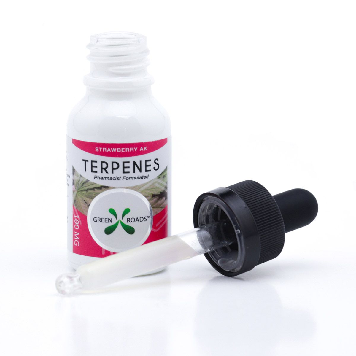 CBD Oil with Infused Terpenes (Sublingual + Vapeable) Strawberry AK 100 mg 0.5 fl. oz. (15 mL)