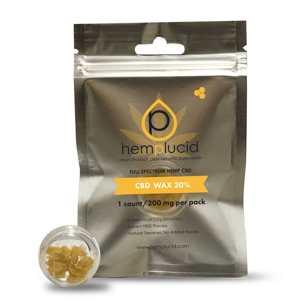 CBD Dab Wax Natural Flavor 200 mg 0.035 oz. (1 g)