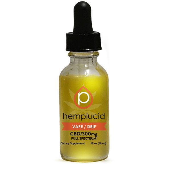 CBD Oil Vape/Drip Natural Flavor 300 mg 1 fl. oz. (30 mL)