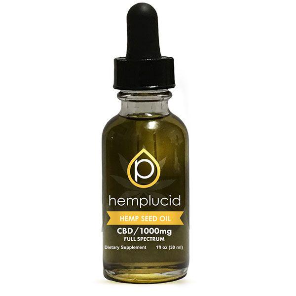 CBD in Hemp Seed Oil Natural Flavor 1,000 mg 1 fl. oz. (30 mL)