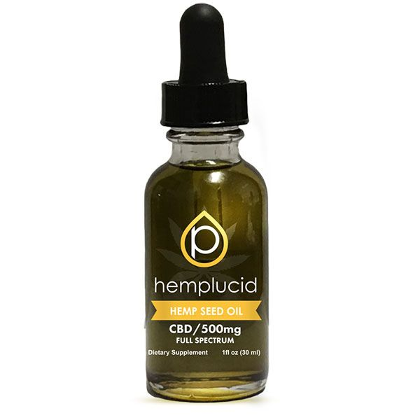 CBD in Hemp Seed Oil Natural Flavor 500 mg 1 fl. oz. (30 mL)